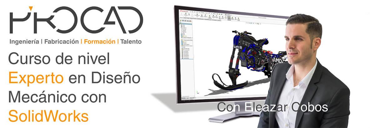 grupoPROCAD.com: Curso online de Modelado de Diseño Mecánico Experto con Solidworks por Eleazar Cobos.