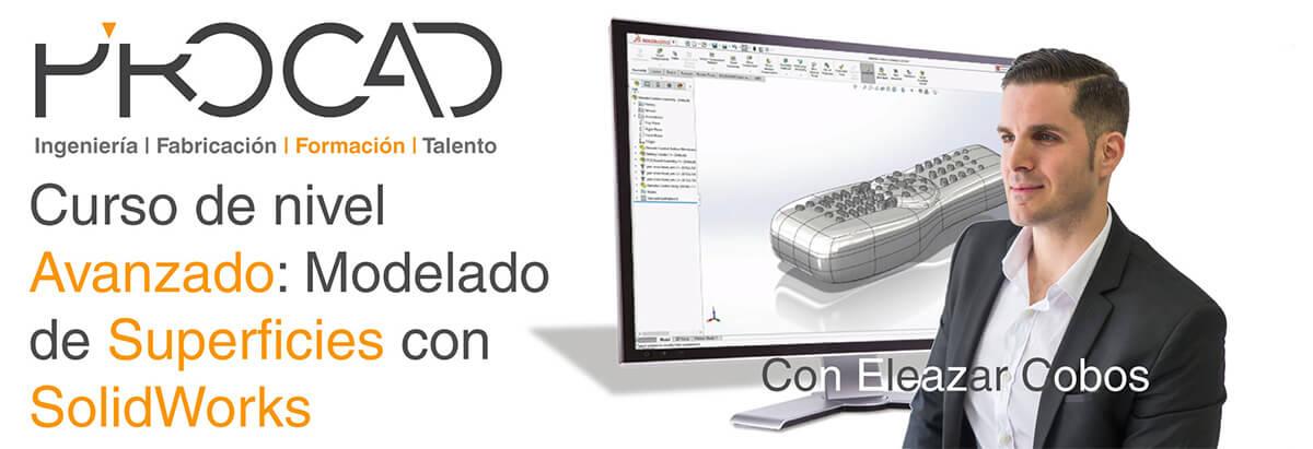 grupoPROCAD.com: Curso online de Modelado de Superficies con Solidworks por Eleazar Cobos.
