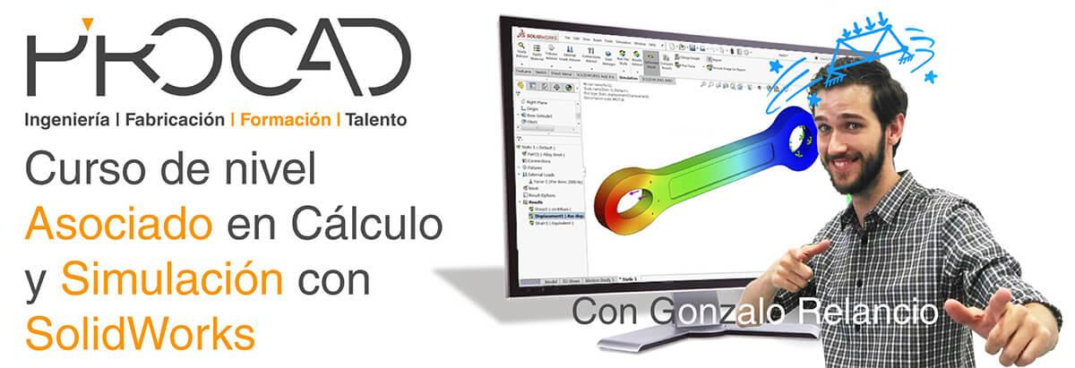 grupoPROCAD.com: Curso online de Simulación por Solidworks con Gonzalo Relancio.
