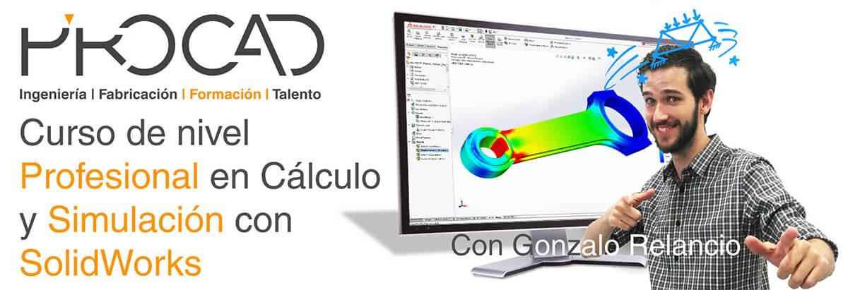 grupoPROCAD.com: Curso online de Simulación Profesional con Solidworks por Gonzalo Relancio.