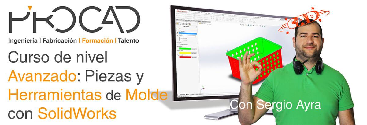 grupoPROCAD.com: Curso online de Piezas y Herramientas de Molde Avanzado con Solidworks por Sergio Ayra.