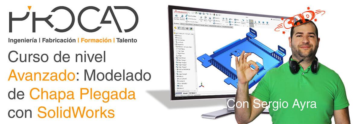 grupoPROCAD.com: Curso online de Modelado de Chapa Plegada Avanzado con Solidworks por Sergio Ayra.