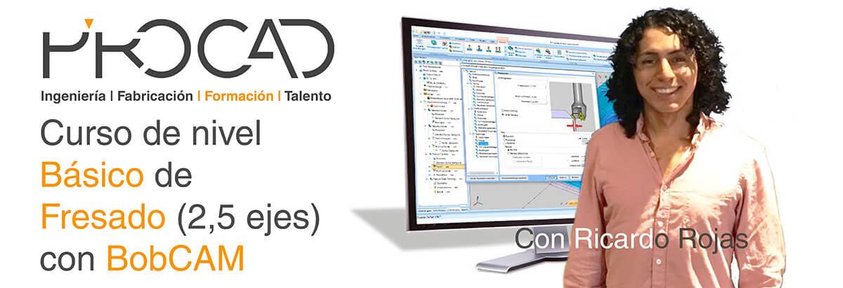 grupoPROCAD.com: Curso online de Fresado con BobCAM por Ricardo Rojas.
