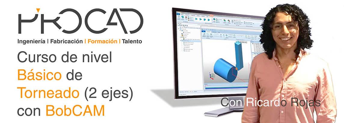 grupoPROCAD.com: Curso online de Torneado con BobCAM por Ricardo Rojas.